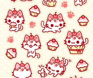 cupcake, kawaii, and kitty image