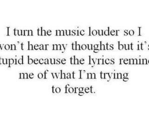 music, quotes, and sadness image