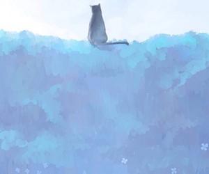 animal, blue, and kitten image