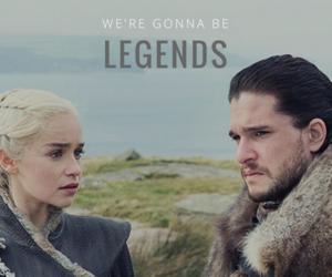 dragon, Jon, and king image