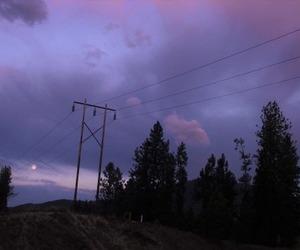 sky, purple, and grunge image