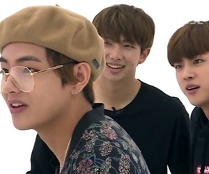glasses, jin, and bts image