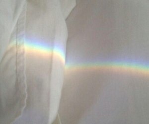 rainbow, white, and pale image