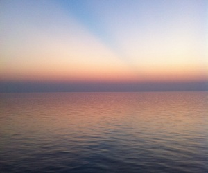 ocean, sunset, and pastel image