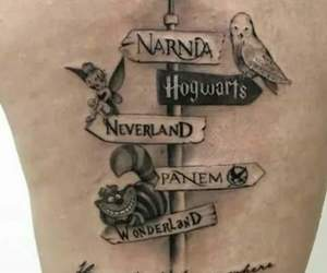 book, tattoo, and disney image