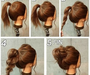 bun, how to, and hair image
