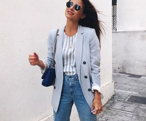 blazer, chic, and stripes image