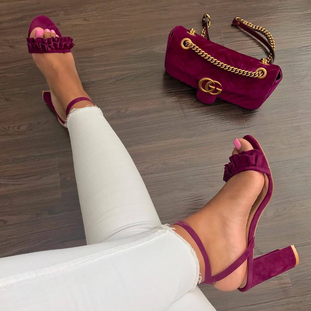 fashion, heels, and red image
