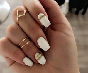 gold, nails, and ring image