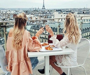 best friends, outfit, and photoshoot image