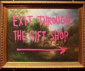 pink and BANKSY image