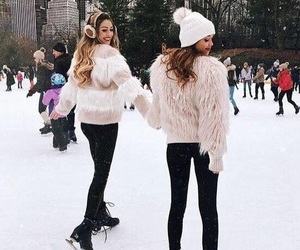 winter, snow, and friends image