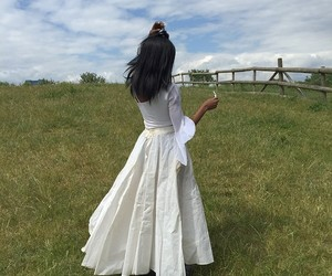 asian, indian girl, and white dress image