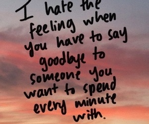 goodbye, love, and quote image