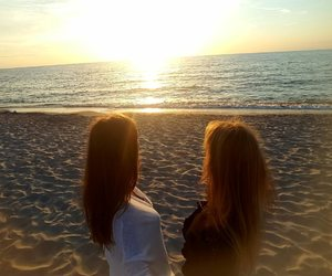 Baltic Sea, beach, and love image
