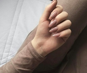 brown, cute, and nails image