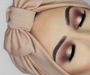 beauty, hijab, and lashes image