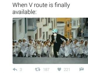 meme, v, and otome image