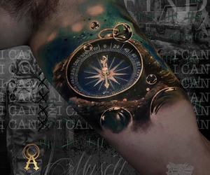 compass, compass tattoo, and tattoo image
