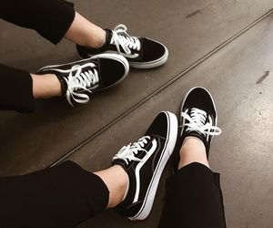 shoes, black, and vans image