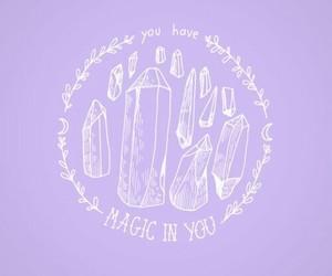 purple, magic, and pastel image