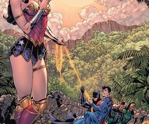 wonder woman, superman, and batman image