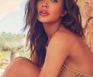 beach, gold, and brunette image