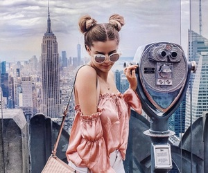 girl, inspiration, and new york city image
