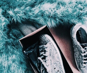 teal, blue, and shoes image