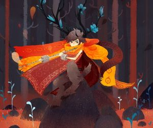 autumn, character, and fantasy image