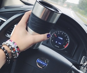 bracelet, car, and coffee image