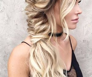 blond, braid, and girl image