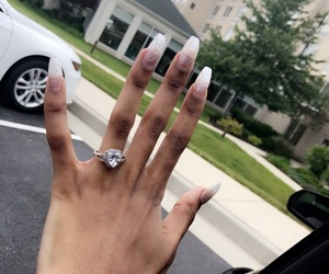 engaged, goals, and nails image