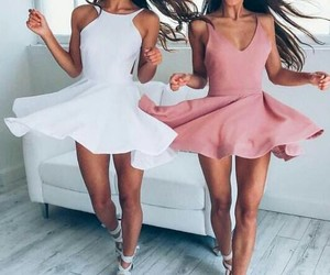 dresses, girly, and style image