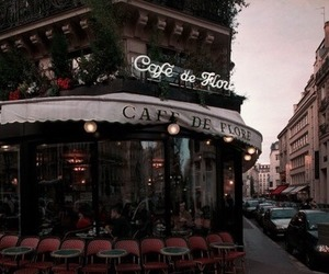 cafe, city, and paris image