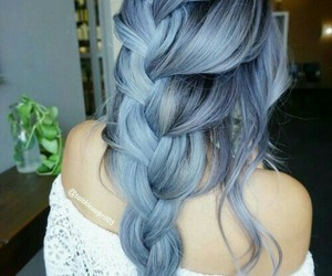 beauty, blue hair, and outfit fashion image