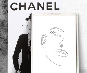 art, black and white, and chanel image