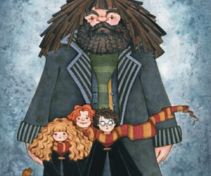harry potter, hagrid, and harry image