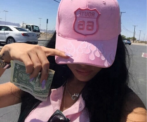pink, girl, and money image