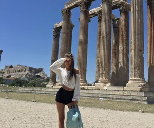 Athens, girl, and Greece image
