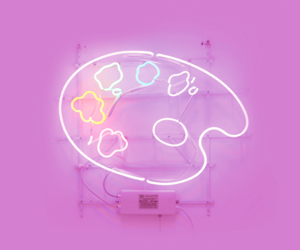 palette, aesthetic, and neon image