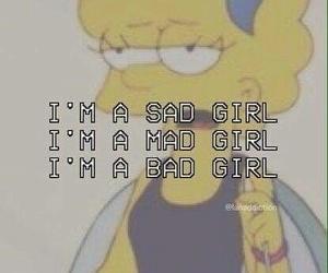 sad, bad, and mad image