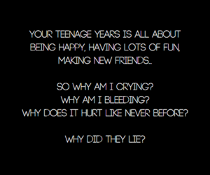 crying, teenage, and life quote image
