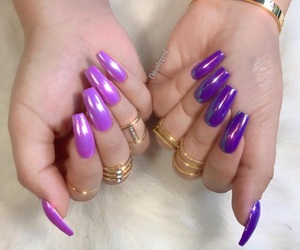 gold, nails, and light pink image