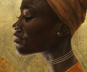 artwork, black woman, and painting image