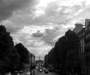 black and white, paris, and la madeleine image