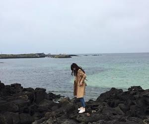 girl, korean, and sea image