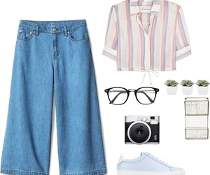 fashion, glasses, and jeans image