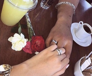 amour, bague, and couples image