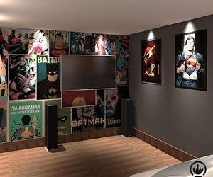 decoration, room, and dc comics image